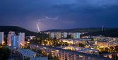 Storm over bratislava — Stockfoto