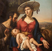 GENT - JUNE 23: Paint of Holy Family from Saint Peter s church on June 23, 2012 in Gent, Belgium. — Stockfoto