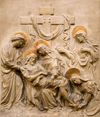 Vienna - relief Deposition from the Cross from the Dominicans church — Stock Photo