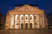 Brussels - Theatre Royal de la Monnaie in evening. — Stock Photo