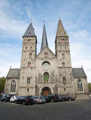 Brussels - west facade of st. Jacob church — Stock Photo