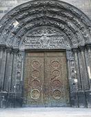 Paris - portail principal du premier gothique cathédrale de saint denis — Photo