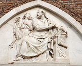 Rome - holy Matthew relief from Santa Maria Aracoeli church — Stock Photo