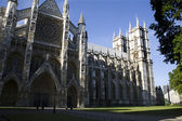London - Westminster abbey in morning from east — Stock Photo