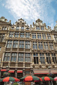 Brussels - The facade of palaces from main square in morning light. Grote Markt. — Stock Photo