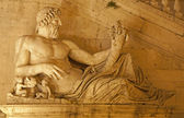 Rome - statue of Tiber for Palazzo Senatorio — Stock Photo