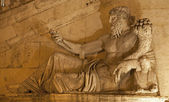 Rome - statue of Nile for Palazzo Senatorio — Stock Photo