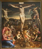 BRUSSELS - JUNE 22: Crucifixion on Jesus. Paint from st. church by Michael van Coxie on June 22, 2012 in Brussels. — Photo