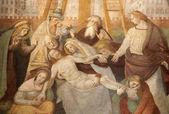 Milan - dépôt du christ - giovani battista della cerva 1545-1546-ambrosius eglise saint — Photo