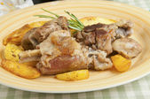 Roast lamb with potatoes — Stock Photo