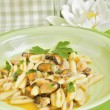 Cicatelli Molise-style seafood with shellfish — Stock Photo