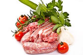 Lean meat mixture for sauce — Stock Photo