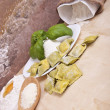 Ravioli with ricotta and spinach - Stockfoto