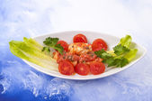 Hake fillets with sauce — Stock Photo