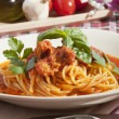 Spaghetti with tuna sauce — Foto Stock