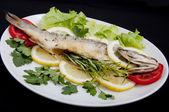 Roasted Sea Bass — Stock Photo