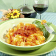 Potato gnocchi with flour aproteica - Stock Photo