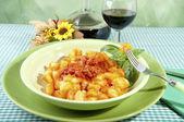 Potato gnocchi with flour aproteica — Stock Photo