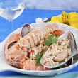 Stock Photo: I pirated rice with seafood seafood