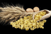 Pasta with various types of grain pile — Stock Photo