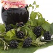 Blackberry jam - Stock Photo