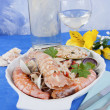 Постер, плакат: I pirated rice with seafood seafood