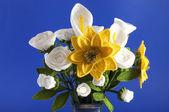 Sunflower crocheted — Stock Photo