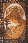 Madonna wooden handmade — ストック写真