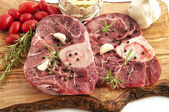 The veal osso buco — Stock Photo