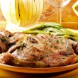 Steaks of lamb chops - Stock Photo