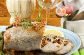 Roast pork with green pepper — Stock Photo