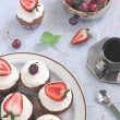Berry Cupcakes — Stock Photo
