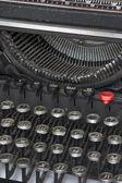 Detalle de la máquina de escribir, cirílico — Foto de Stock