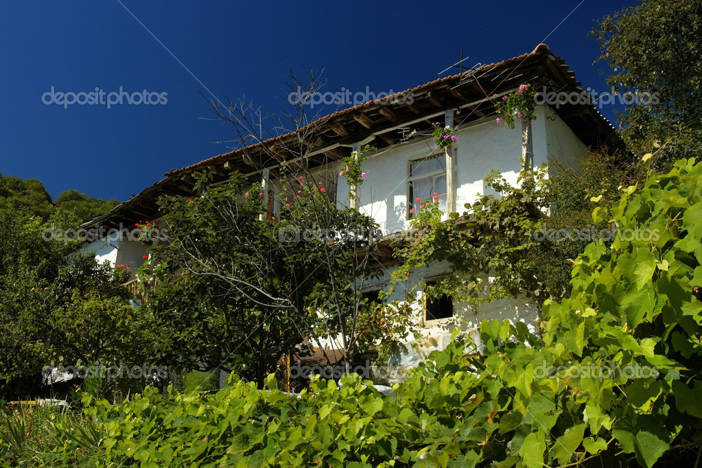 Delchevo village, Gotze Delchev region, old Bulgarian architecture — Stock Photo #11606269