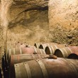 Barrels in wine cellar — Stock Photo #11956681