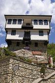 Melnik, traditionelle bulgarische architektur — Stockfoto