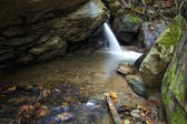 Waterfall on a forest river — Stock Photo