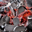 Glowing Charcoal — Stock Photo