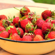 Strawberries in the plate — Stock Photo