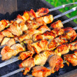 Stock Photo: Tasty grill kebab on charcoal