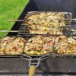 Tasty grill kebab on a charcoal — Stock Photo