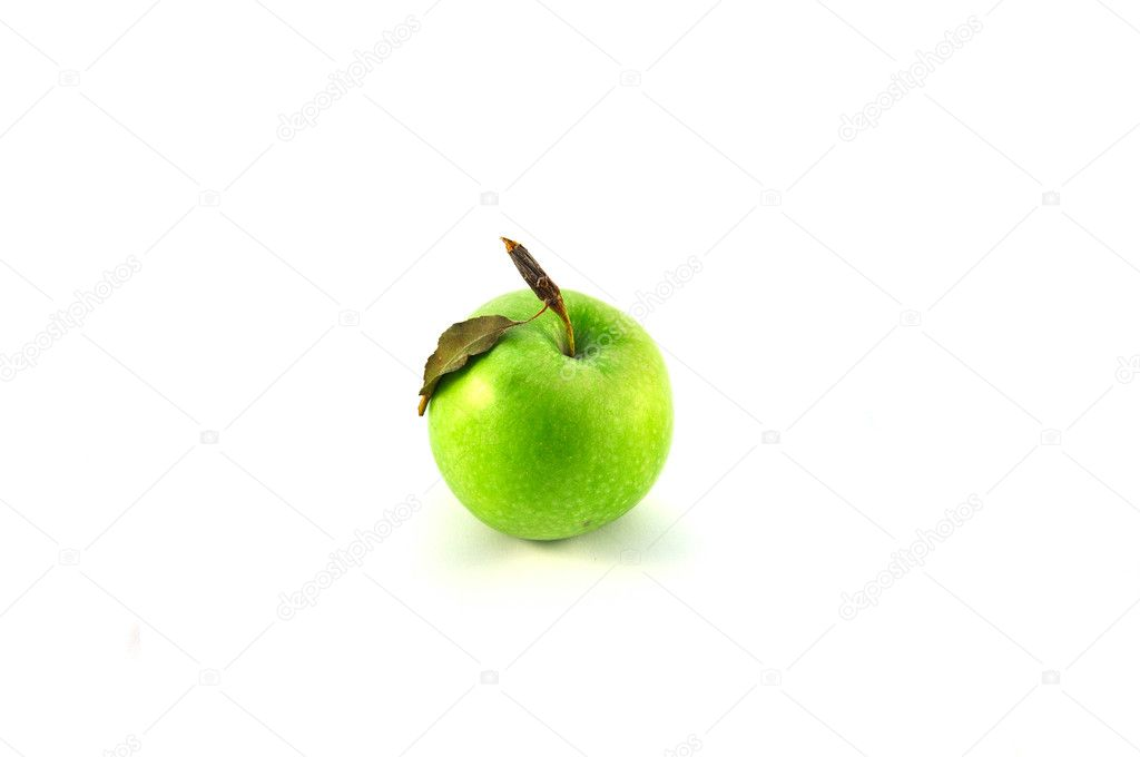 Green apple isolated on white — Stock Photo #11714462