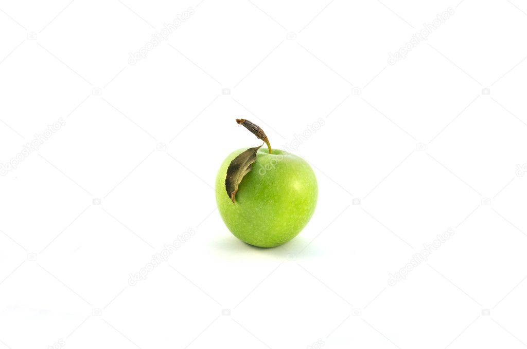 Green apple isolated on white — Stock Photo #11714495