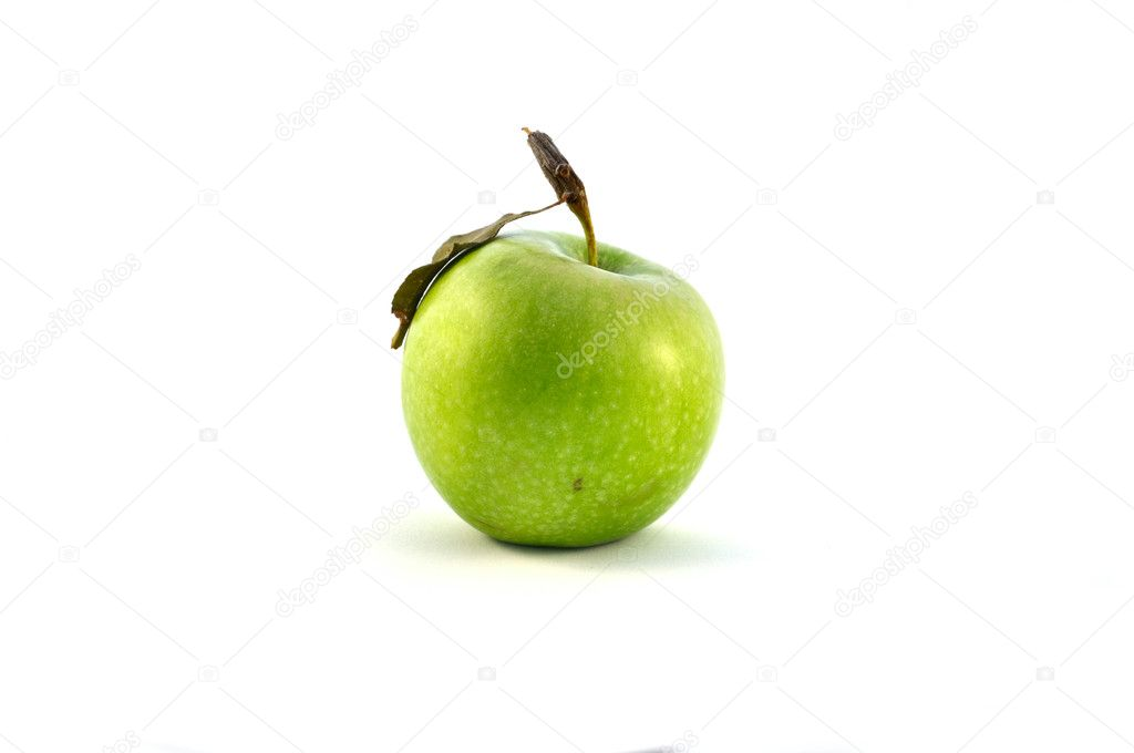 Green apple isolated on white — Stock Photo #11714509
