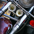 Motorcycle headlight — Stockfoto