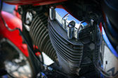 Detail of the motorcycle — Stock Photo