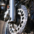 Stok fotoğraf: Front wheel of the motorcycle
