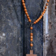 Wooden rosary - Stock Photo
