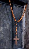 Wooden rosary — Stock Photo