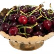 Vase with cherries — Stock Photo